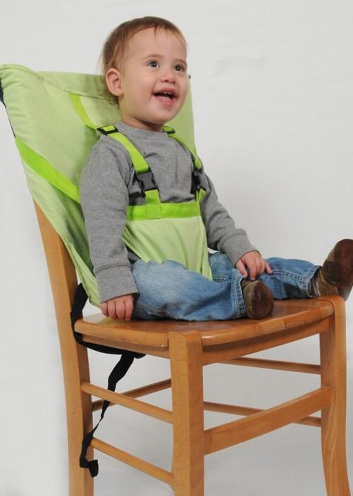 Trona portátil para bebés: Sack'n Seat + stripes