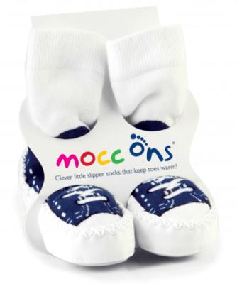 Mocc Ons - Navy Sneaker Ranger calcetines zapatillas