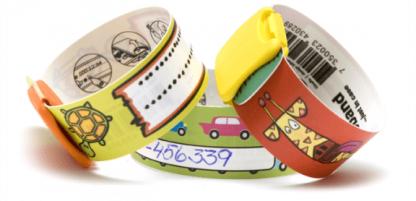 Pulseras de identificación para niños