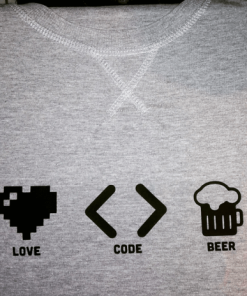 Love, Code, Beer - STUDIO sudadera - mala.practik