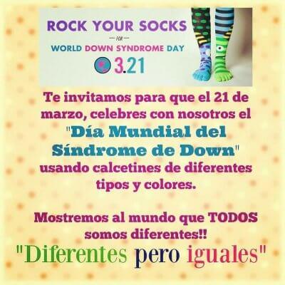 ROCK your SOCKS día mundial del sindrome de down