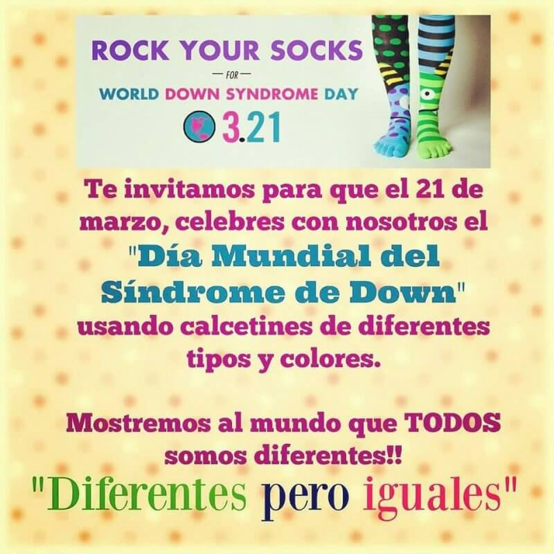 ROCK your SOCKS día mundial del sindrome de down