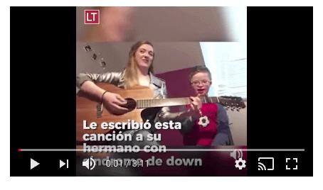 Leah compone una emotiva canción a su hermano Noah con síndrome de Down