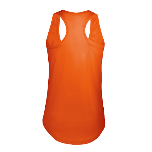 MOKA-Orange camiseta chica de tirantes, con espalda de nadador