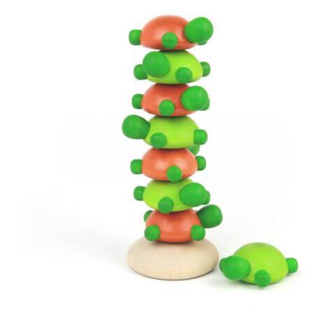 Juego de equilibrio con tortugas de madera - challenge tortuga de Milaniwood
