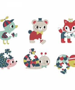 Mini puzle baby forest 12 piezas