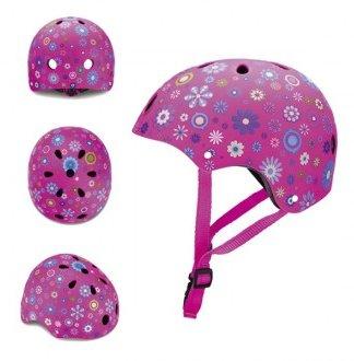 Casco protección junior flores rosa - Globber