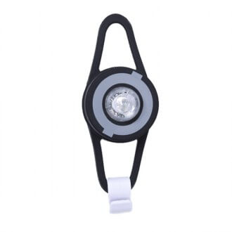 Linterna led flash light negra, de Globber