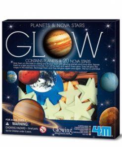 Súper nova brillante y planetas de papel
