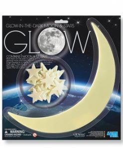 Luna y estrellas brillantes